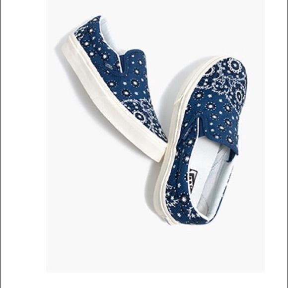 d30ea3477e Madewell x Vans® Slip-On Sneakers in Bandana Print